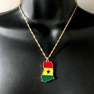 Country Flag & Map Necklace